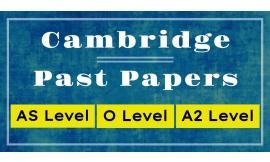 Cambridge pastpapers