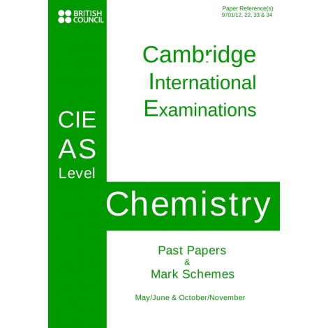 Cambridge - AS Level - Past papers & mark schemes - Chemistry - 9701