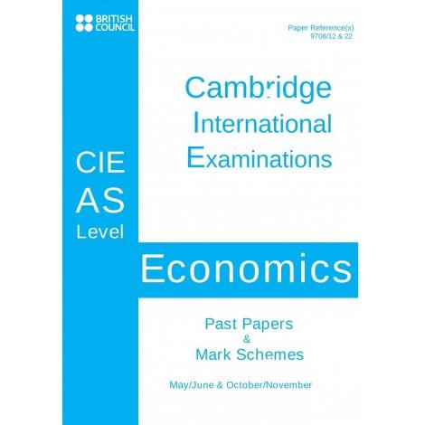 Cambridge - AS Level - Past papers & mark schemes - Economics - 9708