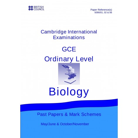 Cambridge - O Level - Past papers & mark schemes - Biology - 5090