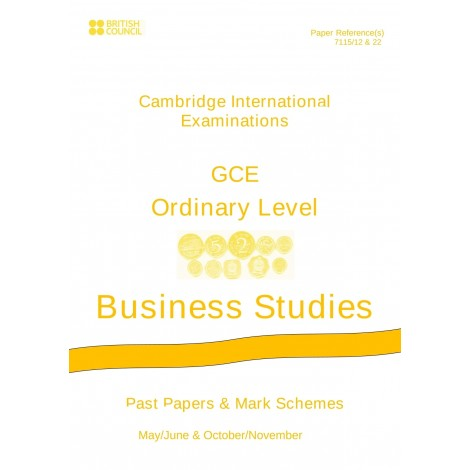 Cambridge - O Level - Past papers & mark schemes - Business Studies - 7115
