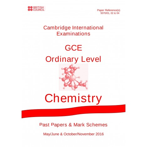 Cambridge - O Level - Past papers & mark schemes - Chemistry - 5070