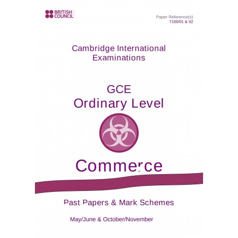 Cambridge - O Level - Past papers & mark schemes - Commerce - 7100