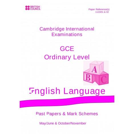 Cambridge - O Level - Past papers & mark schemes - English Language - 1123