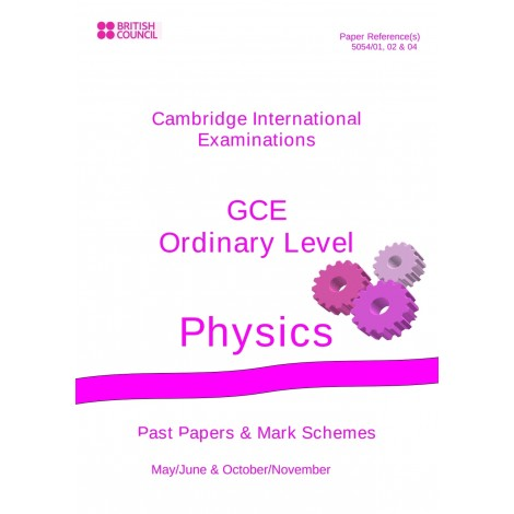 Cambridge - O Level - Past papers & mark schemes - Physics - 5054