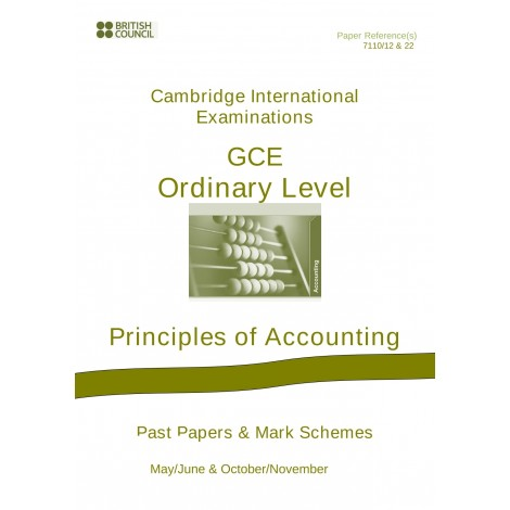 Cambridge - O Level - Past papers & mark schemes - Principles of Accounts - 7110