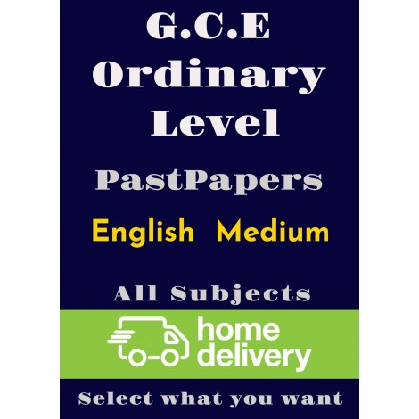 G.C.E Ordinary Level (All subjects) Past Papers - English (printed)