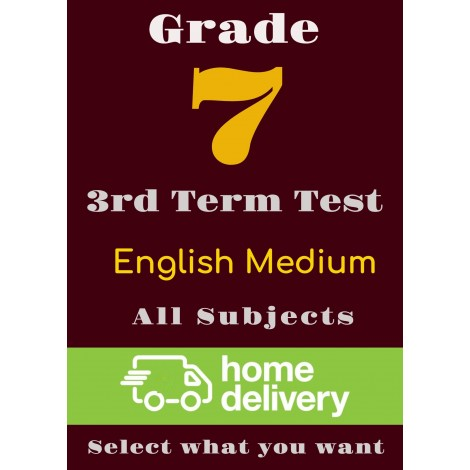 Grade 7 - 3rd Term Past Papers - English (printed)