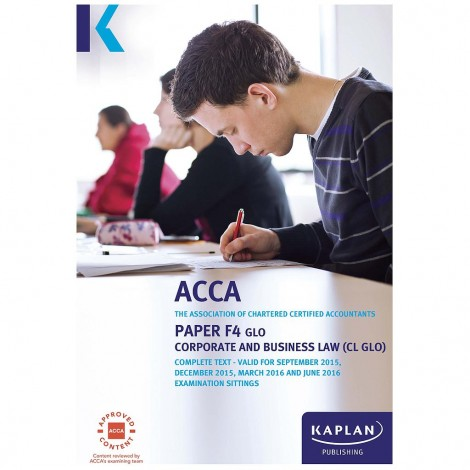 ACCA-F4 Corporate and Business Law (CL GLO) Complete Text