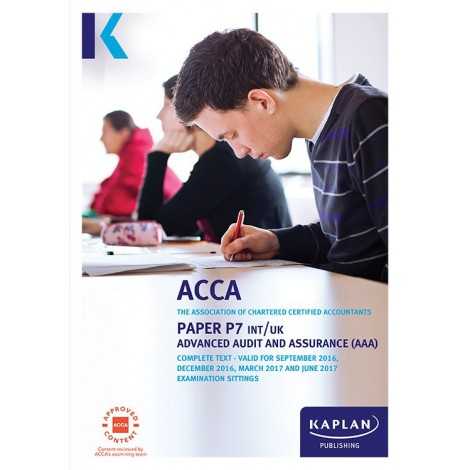 ACCA- P7 Advanced Audit and Assurance AAA (INT & UK) Complete Text