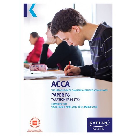 ACCA-F6 Taxation TX (FA15)[UK Variant] Complete Text