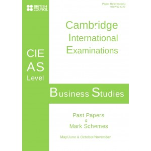 Cambridge - AS Level - Past papers & mark schemes - Business - 9609