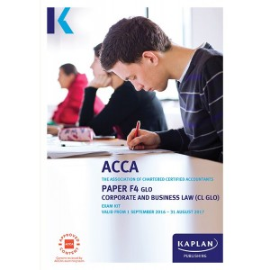 ACCA-F4 Corporate and Business Law CL (GLO) Exam Practice Kit